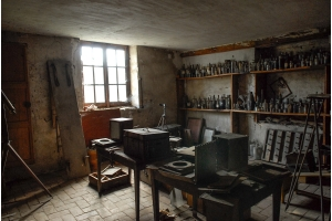 The intact photographic laboratory of a contemporary of Niépce, Joseph Fortuné Petiot-Groffier.
