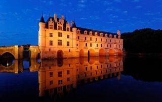 Château de Chenonceau at twilight